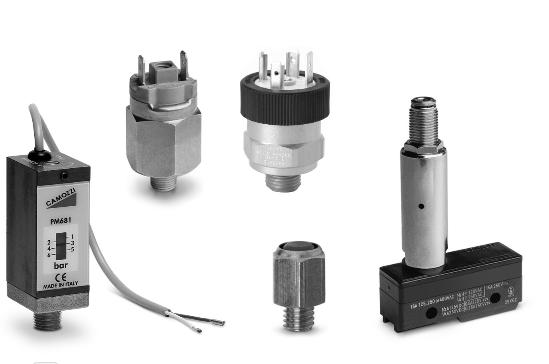 Công tắc áp suất và chuyển mạch chân không Camozzi Series PM